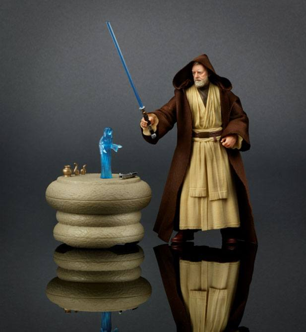 Photo du produit STAR WARS EPISODE IV BLACK SERIES FIGURINE OBI-WAN KENOBI 2016 EXCLUSIVE (EMBALLAGE ENDOMMAGE)