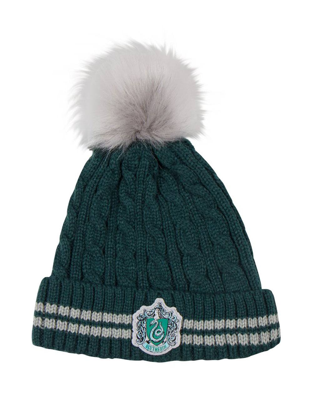 Photo du produit BONNET HARRY POTTER A POM-POM SLYTHERIN