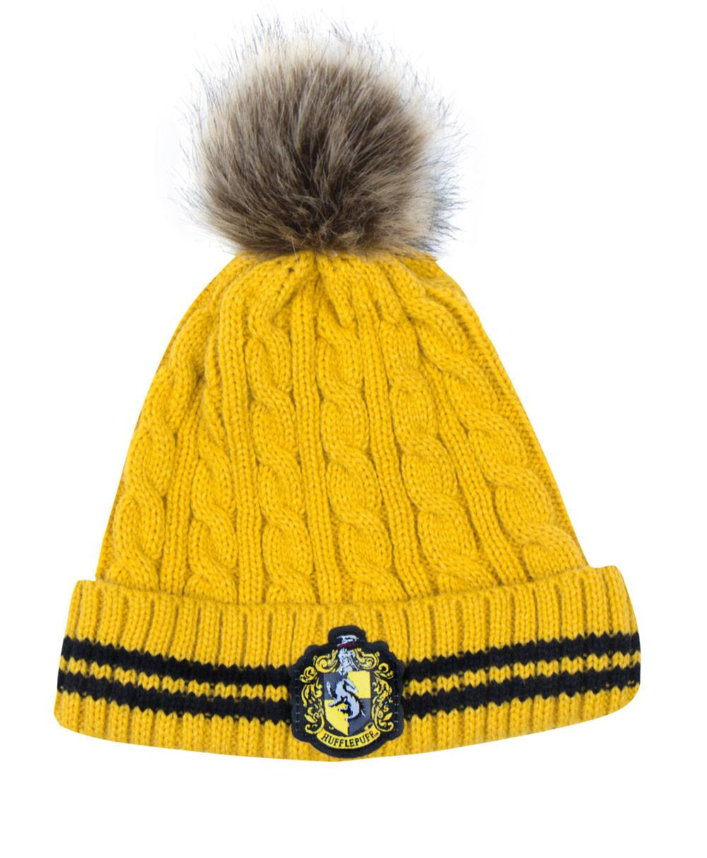 Photo du produit BONNET HARRY POTTER A POM-POM HUFFLEPUFF