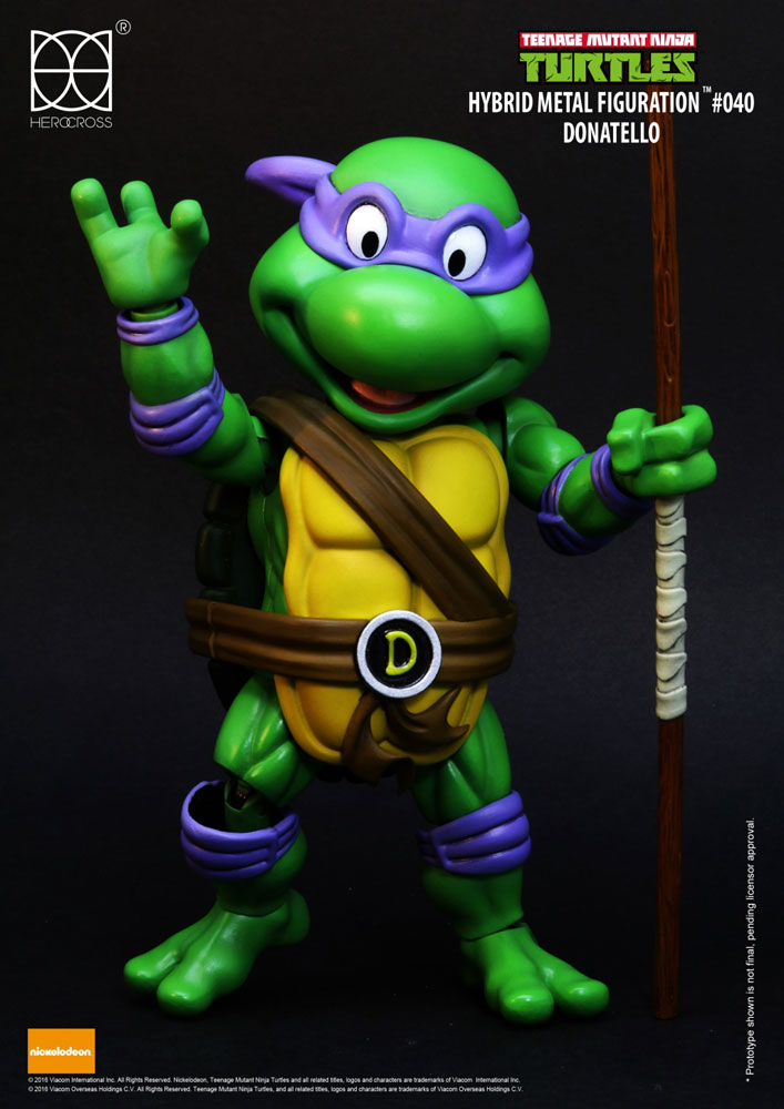 Les tortues ninja figurine hybrid metal donatello 14 cm - Tortues ninja donatello ...