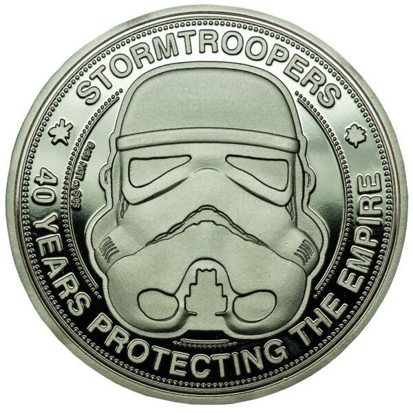 Photo du produit ORIGINAL STORMTROOPER PIECE DE COLLECTION 40 YEARS PROTECTING THE EMPIRE