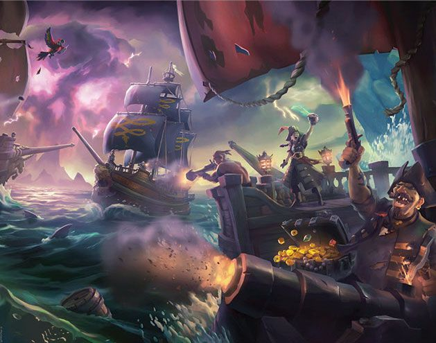 Photo du produit LITHOGRAPHIE SEA OF THIEVES SEA FIGHT