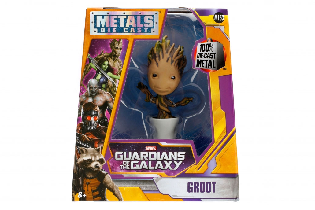 Photo du produit LES GARDIENS DE LA GALAXIE METALS FIGURINE DIECAST POTTED GROOT 10 CM