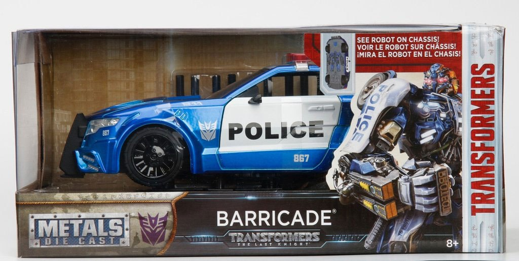 Photo du produit TRANSFORMERS THE LAST KNIGHT BARRICADE POLICE CAR METAL 1/24