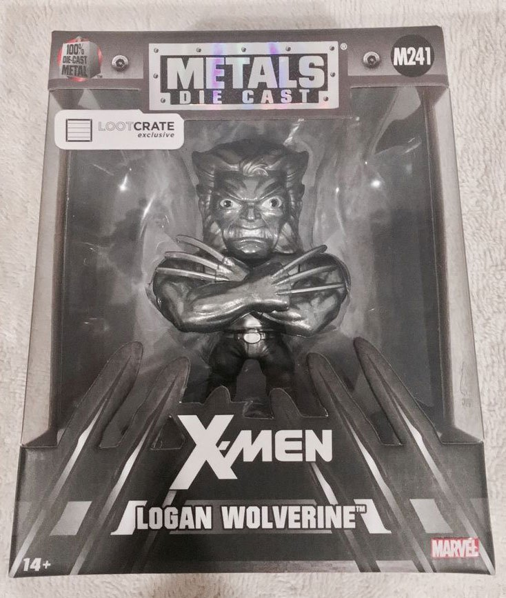 Photo du produit MARVEL COMICS METALS FIGURINE DIECAST WOLVERINE RAW METAL LC EXCLUSIVE 10 CM