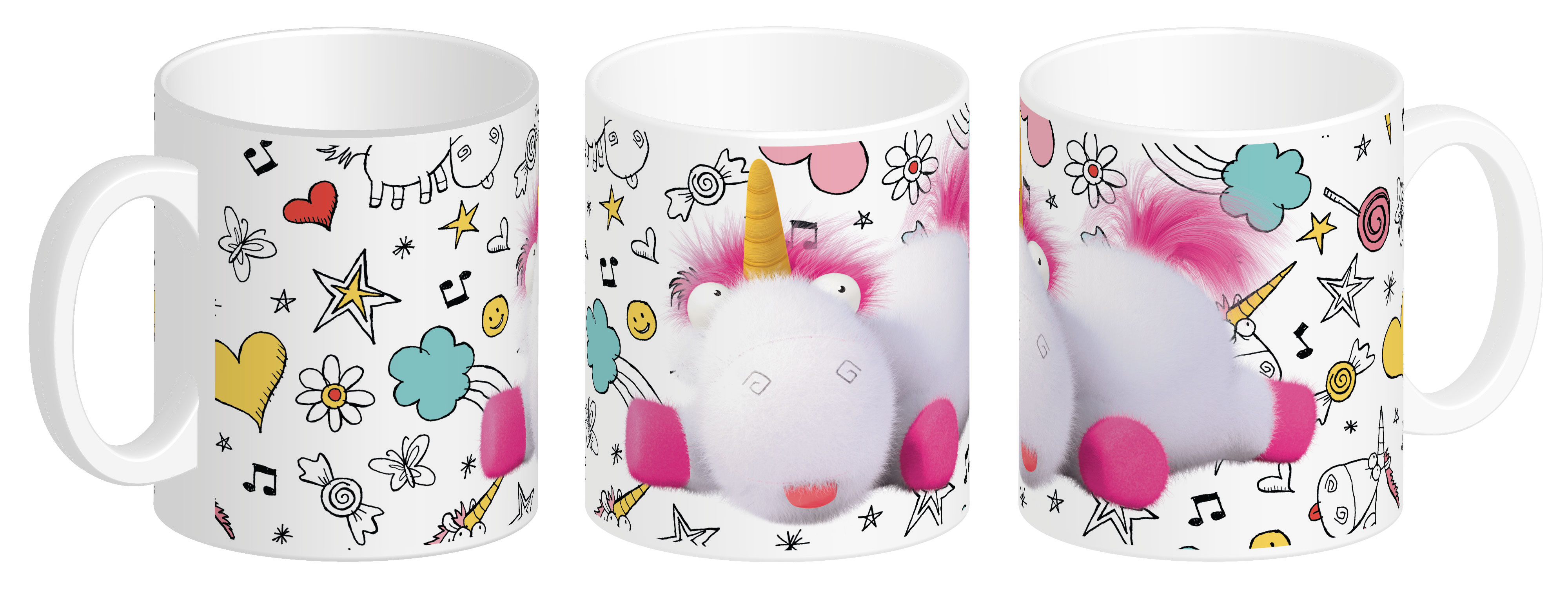 Photo du produit MOI, MOCHE ET MECHANT 3 MUG CERAMIQUE FLUFFY