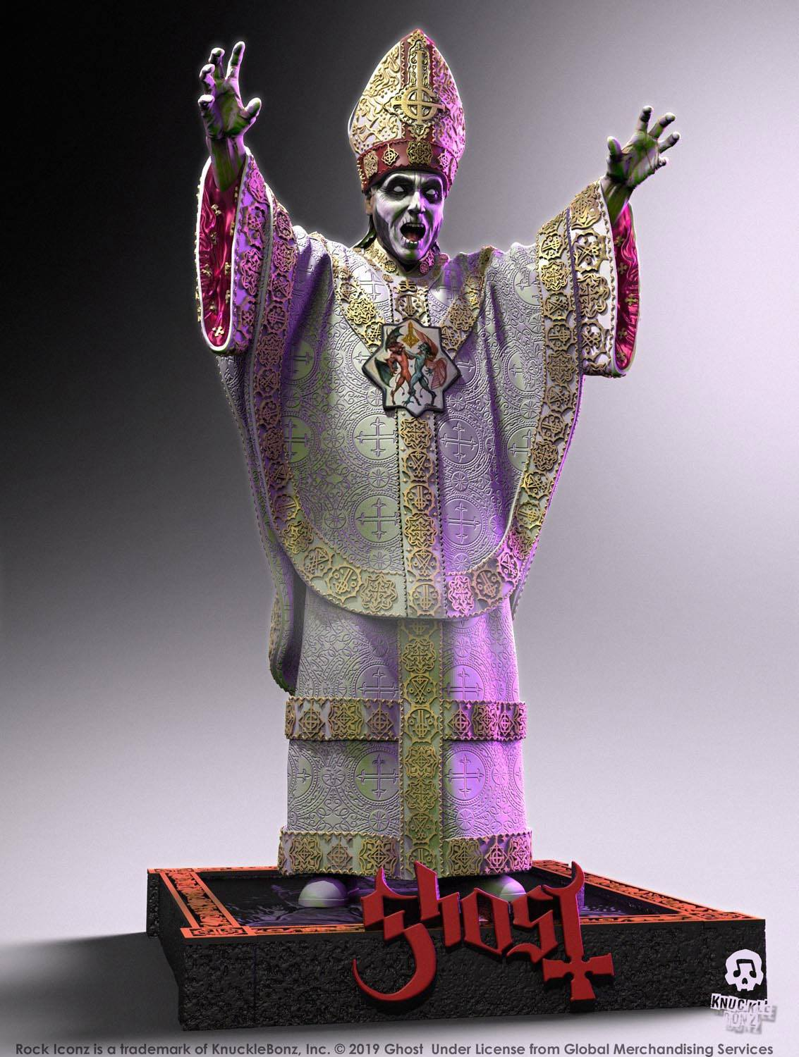 Photo du produit GHOST STATUETTE ROCK ICONZ PAPA NIHIL LIMITED EDITION 23 CM