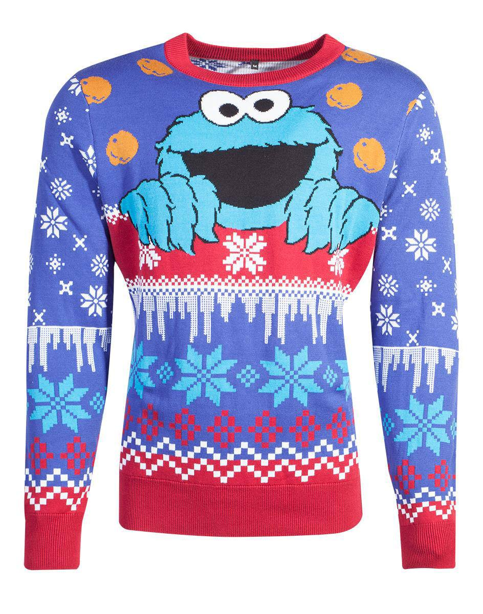 Photo du produit 1 RUE SÉSAME SWEATER CHRISTMAS COOKIE MONSTER