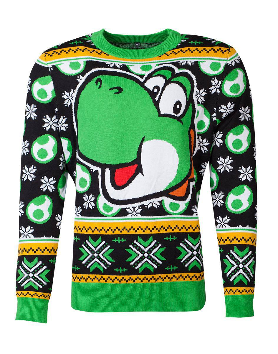 Photo du produit NINTENDO SWEATER CHRISTMAS SUPER MARIO YOSHI