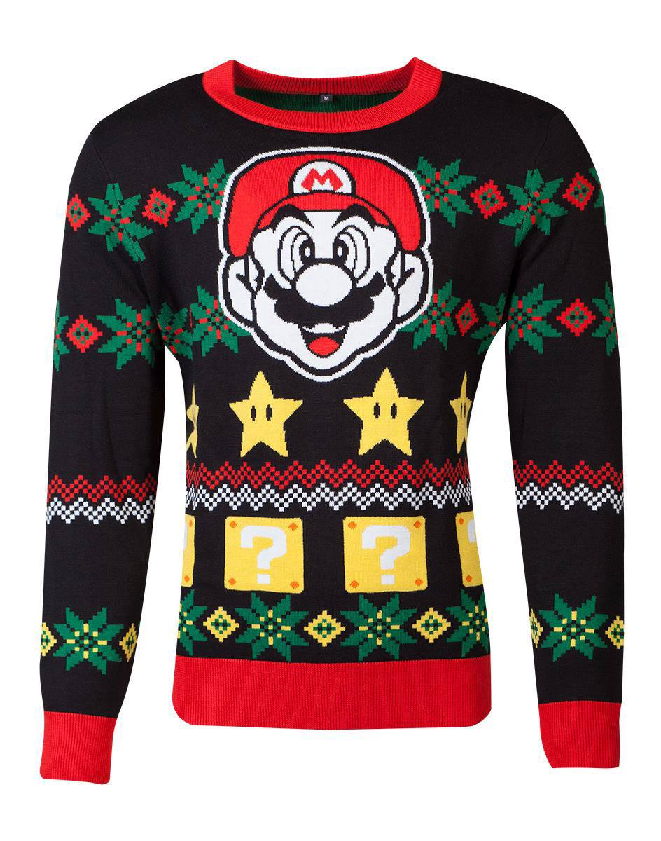 Photo du produit NINTENDO SWEATER CHRISTMAS SUPER MARIO NIGHT