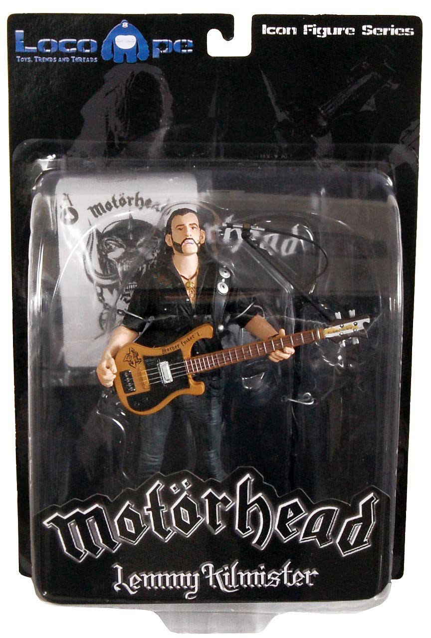 Photo du produit FIGURINE MOTORHEAD LEMMY KILMISTER BLACK PICK GUARD GUITAR