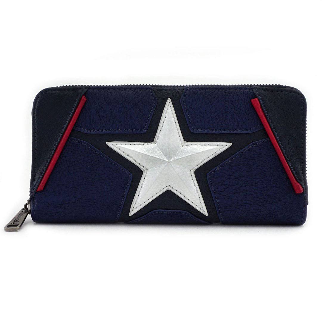Photo du produit MARVEL BY LOUNGEFLY PORTE-MONNAIE CAPTAIN AMERICA