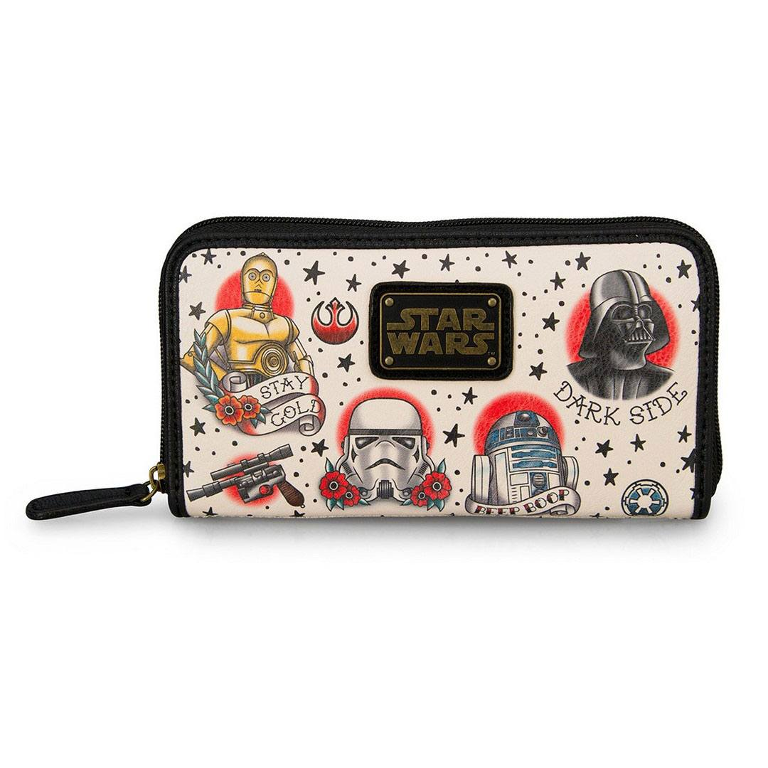 Photo du produit STAR WARS BY LOUNGEFLY PORTE-MONNAIE TATTOO FLASH PRINT
