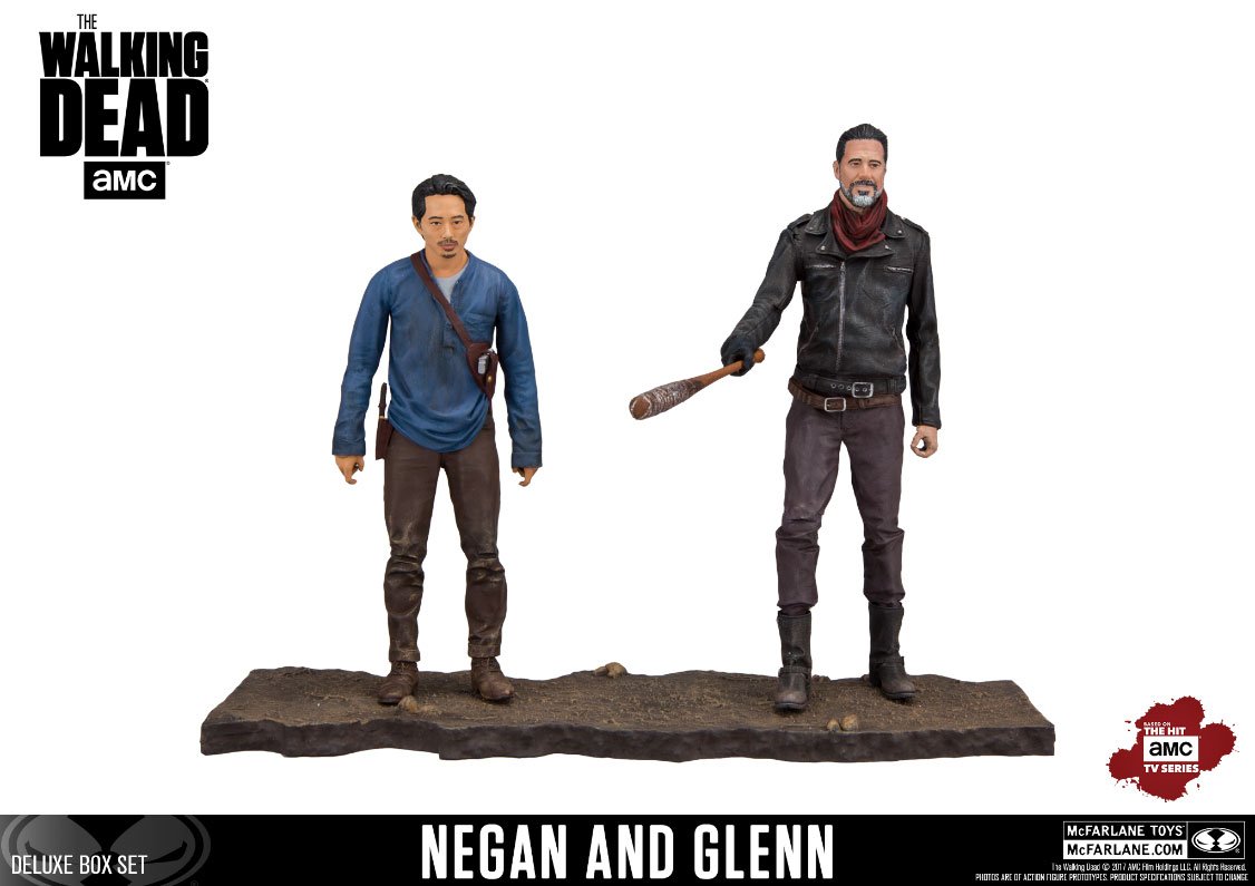 Photo du produit THE WALKING DEAD TV VERSION PACK 2 FIGURINES NEGAN & GLENN 13 CM