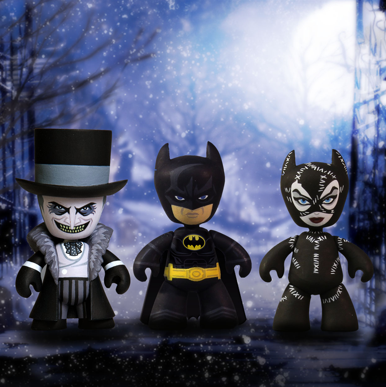 Photo du produit BATMAN LE DEFI COFFRET DE 3 FIGURINES MEZ-ITZ
