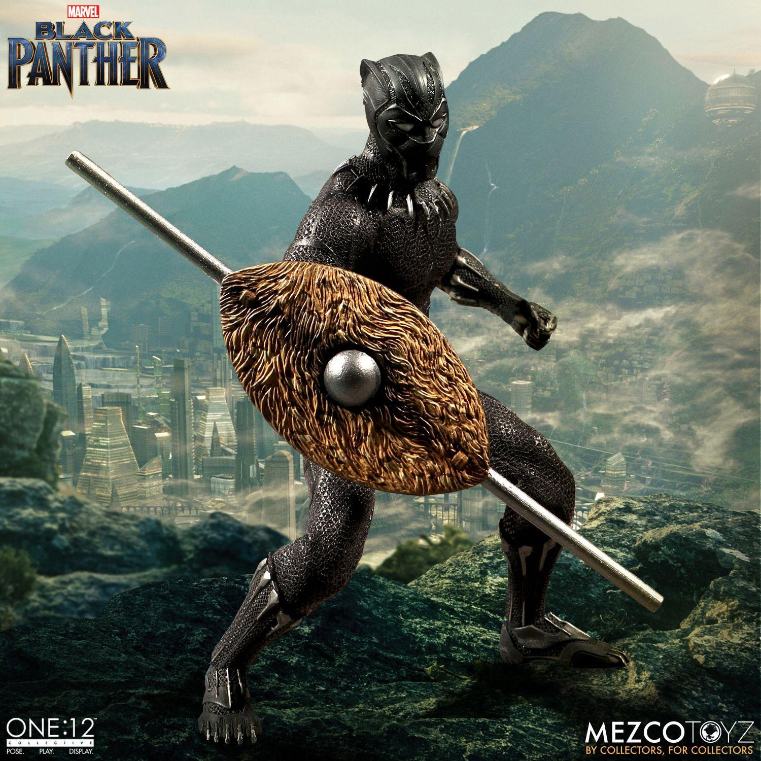 Photo du produit MARVEL UNIVERSE FIGURINE 1/12 BLACK PANTHER 17 CM