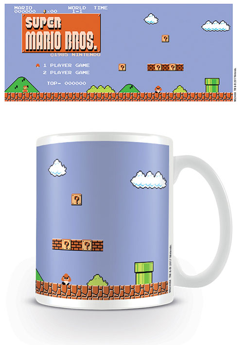 Photo du produit SUPER MARIO BROS. MUG RETRO TITLE