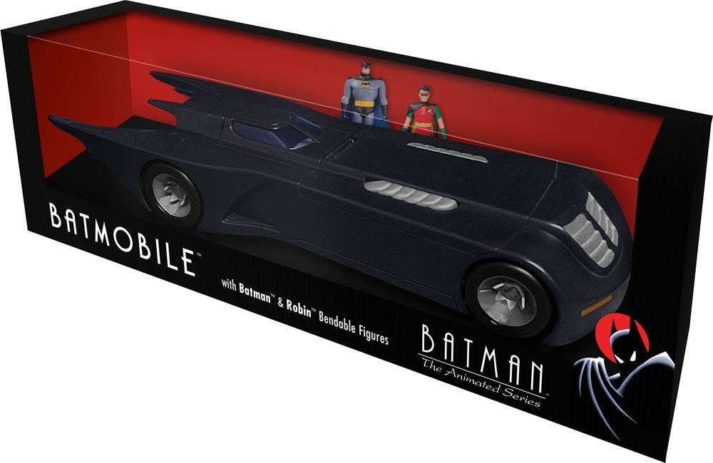 Photo du produit BATMAN THE ANIMATED SERIES PACK 2 FIGURINES FLEXIBLES ET VÉHICULE BATMOBILE AVEC BATMAN ET ROBIN