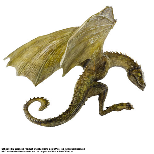 Photo du produit LE TRÔNE DE FER SCULPTURE RHAEGAL BABY DRAGON 12 CM