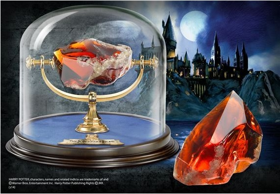 Photo du produit HARRY POTTER REPLIQUE PIERRE PHILISOPHALE ET CLOCHE DE PRESENTATION
