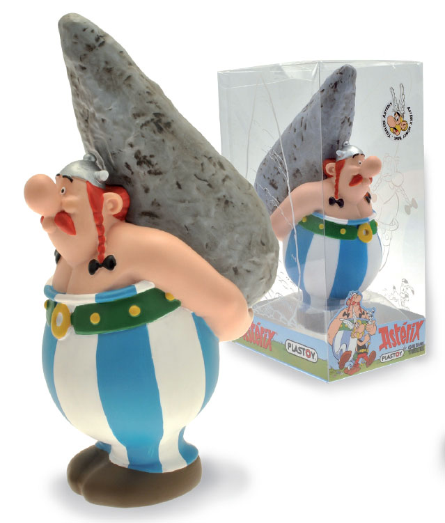 Photo du produit ASTERIX TIRELIRE PVC OBELIX ON MENHIR 20 CM