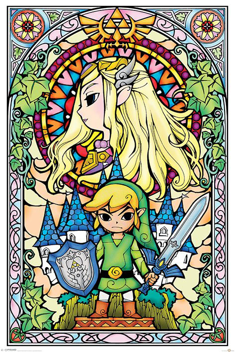 Photo du produit POSTER LEGEND OF ZELDA PACK STAINED GLASS