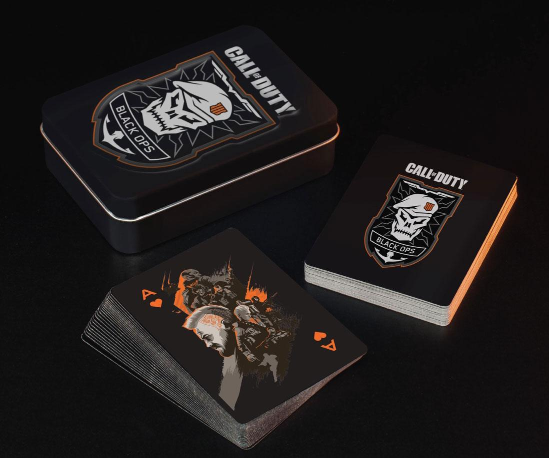 Photo du produit CALL OF DUTY BLACK OPS 4 JEU DE CARTES À JOUER SKULL