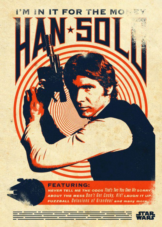 Photo du produit STAR WARS POSTER EN METAL STAR WARS LEGENDS HAN SOLO 10 X 14 CM