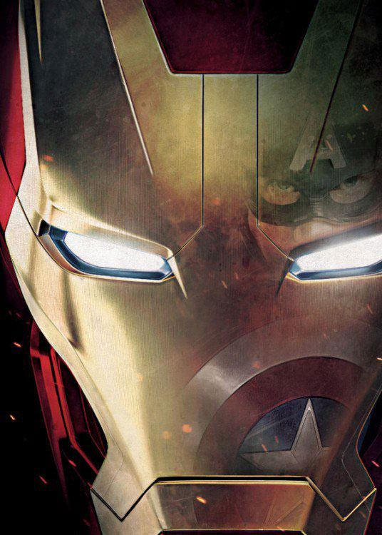 Photo du produit MARVEL COMICS POSTER EN METAL CIVIL WAR DIVIDED WE FALL IRON  MAN  10 X 14 CM