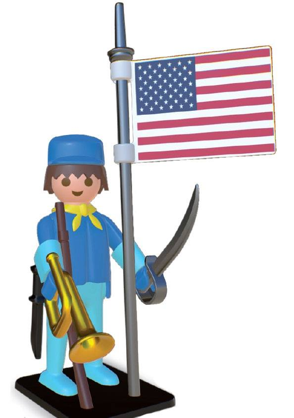 Photo du produit PLAYMOBIL STATUETTE NOSTALGIA COLLECTION CAVALIER AMERICAIN 25 CM