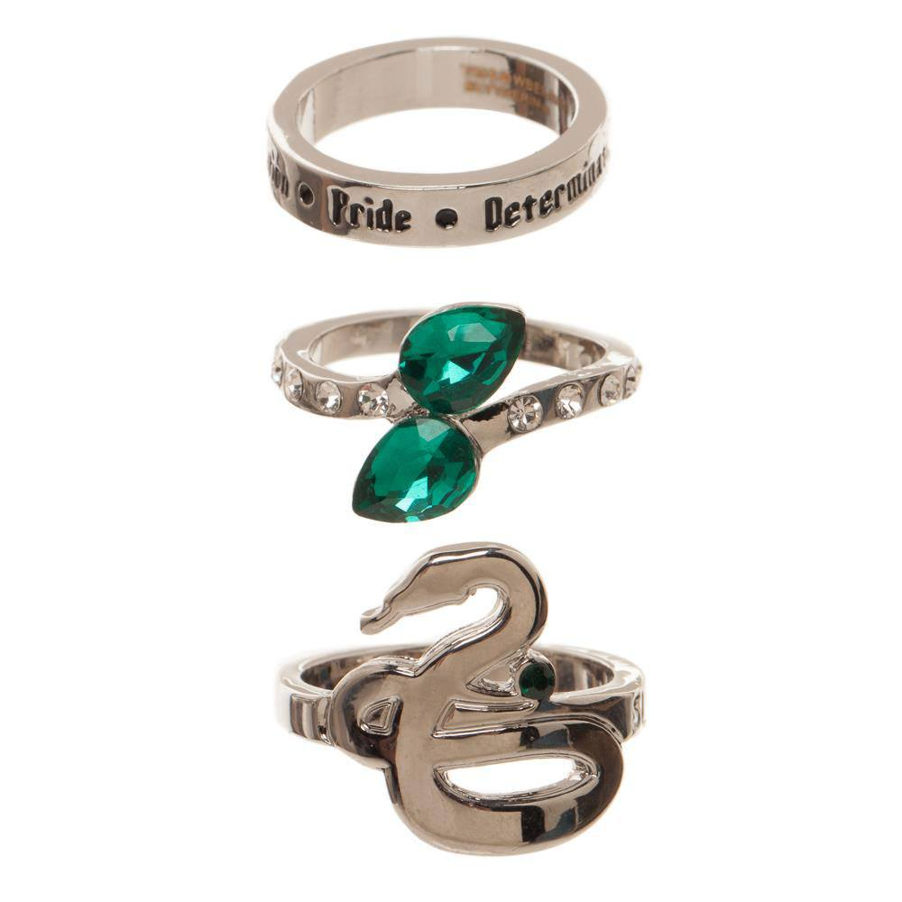 Photo du produit HARRY POTTER SET 3 ANNEAUX SLYTHERIN