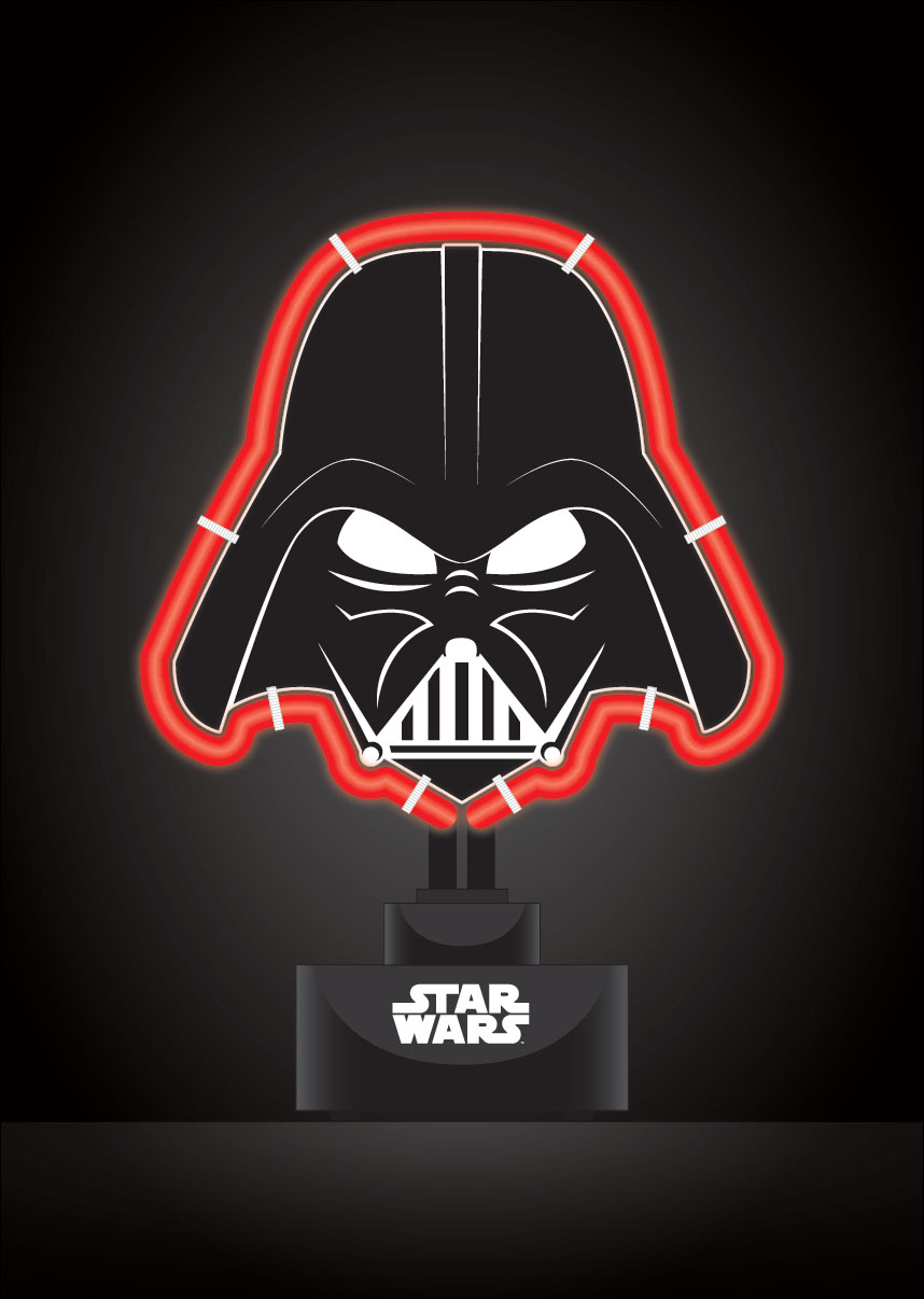 star wars lampe neon dark vador