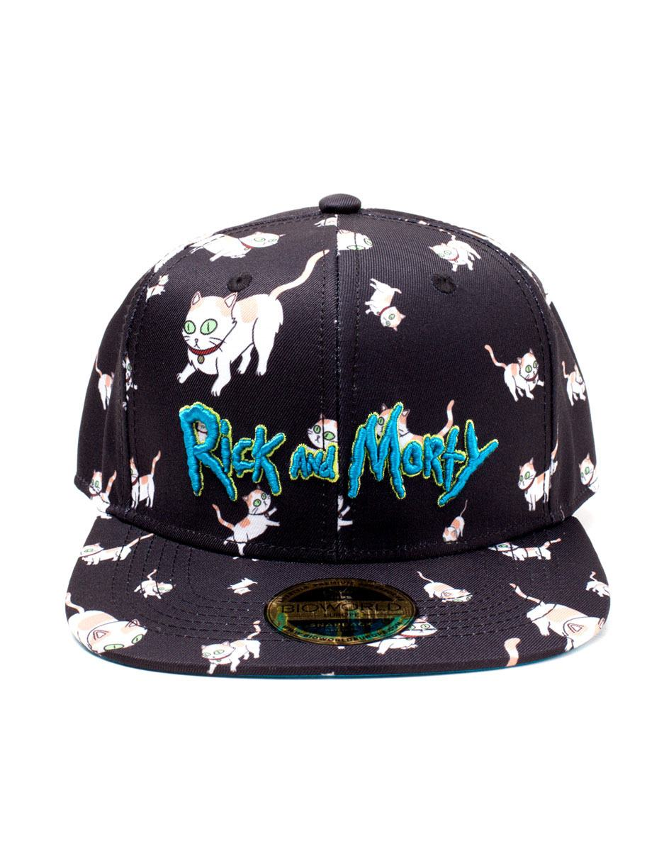 Photo du produit RICK ET MORTY CASQUETTE HIP HOP SNAPBACK CATS AOP