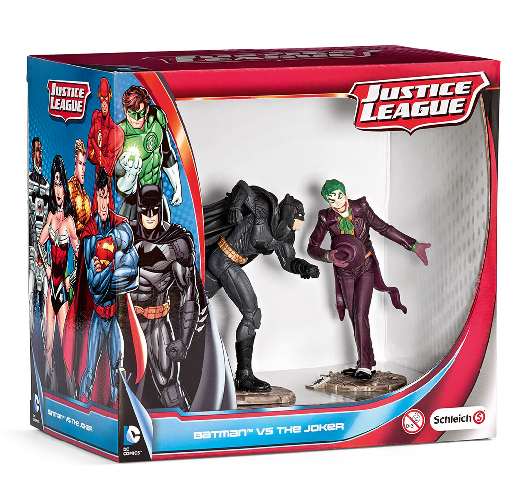 Photo du produit JUSTICE LEAGUE PACK 2 FIGURINES BATMAN VS. THE JOKER