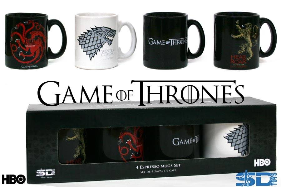 Photo du produit GAME OF THRONES COFFRET DE 4 MINI MUGS TASSES A EXPRESSO