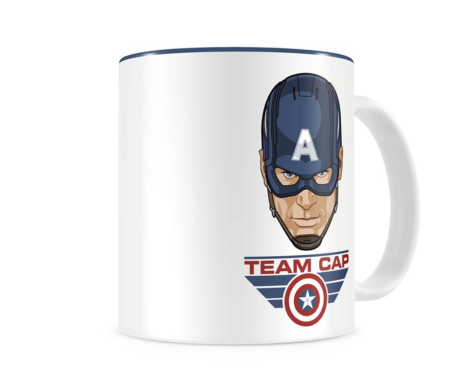 Photo du produit MARVEL MUG CIVIL WAR TEAM CAPTAIN BLANC & BLEU