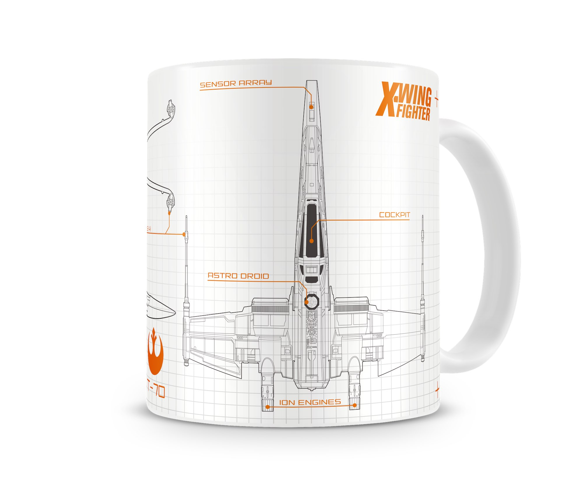 Photo du produit MUG STAR WARS EPISODE 7 BLUEPRINT X-WING