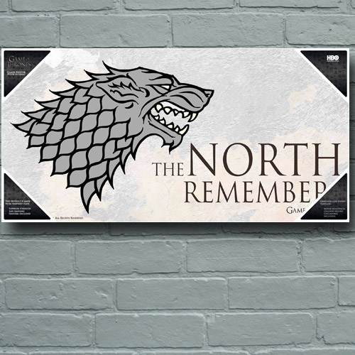 Photo du produit POSTER EN VERRE GAME OF THRONES NORTH REMEMBERS