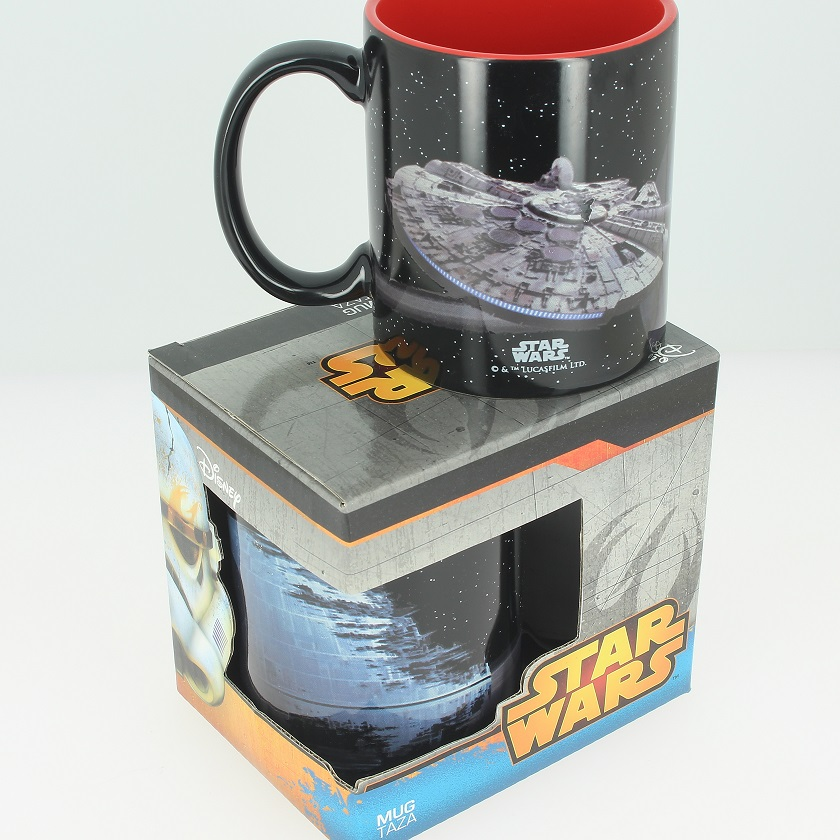 Photo du produit SW MUG CÉRAMIQUE MILLENIUM FALCON VS DEATH STAR