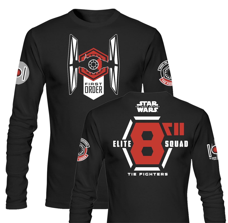 t shirt manches longues homme star wars episode 7 elite squad noir. Black Bedroom Furniture Sets. Home Design Ideas