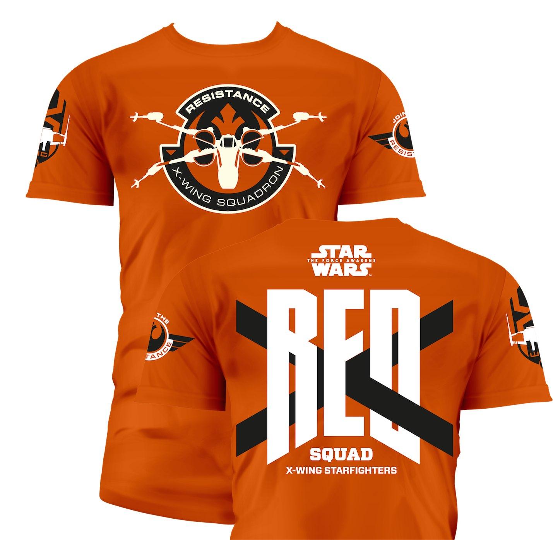 t shirt homme star wars episode 7 red squad orange. Black Bedroom Furniture Sets. Home Design Ideas