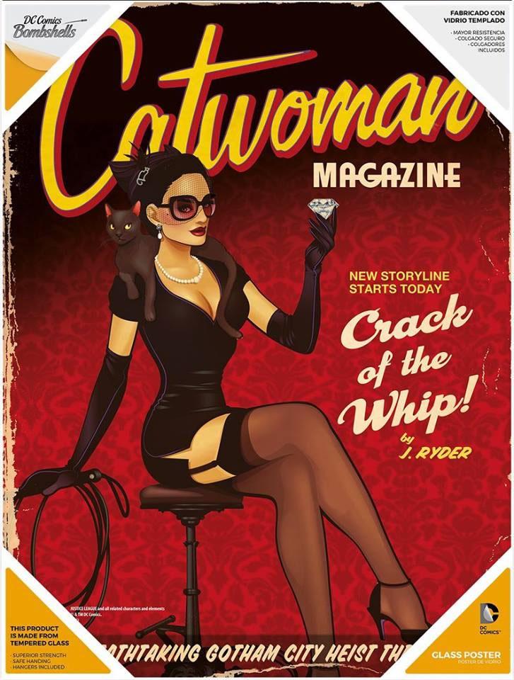 Photo du produit DC Comics Bombshells poster en verre Catwoman