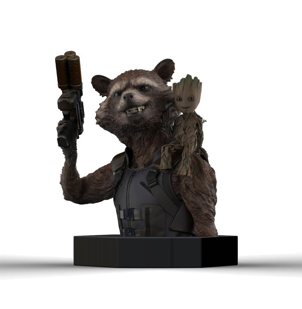 Photo du produit LES GARDIENS DE LA GALAXIE VOL. 2 BUSTE 1/6 ROCKET RACCOON & GROOT 16 CM
