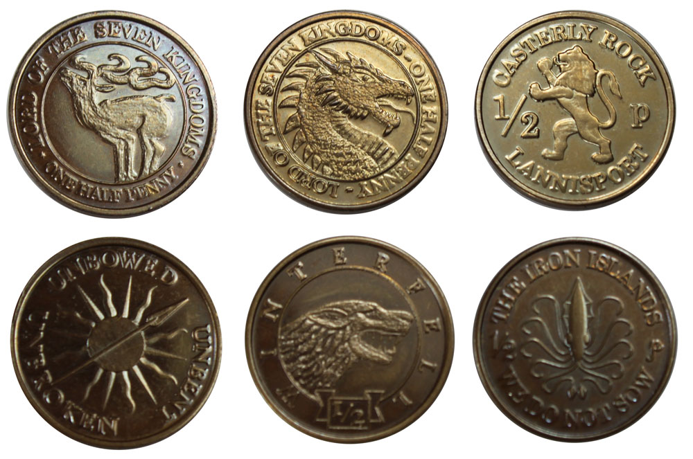 Photo du produit GAME OF THRONES PIECES DE COLLECTION HALF-PENNIES OF 6 HOUSES