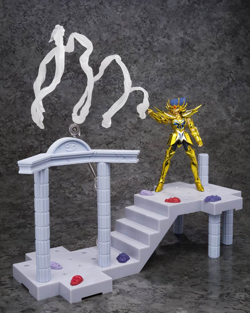 Photo du produit FIGURINE SAINT SEIYA DD PANORAMATION DEATHMASK ARMURE DU CANCER TEMPLE DU CANCER 10CM
