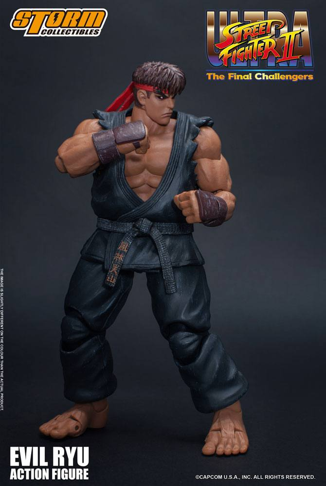 Photo du produit ULTRA STREET FIGHTER II: THE FINAL CHALLENGERS FIGURINE 1/12 EVIL RYU 15 CM