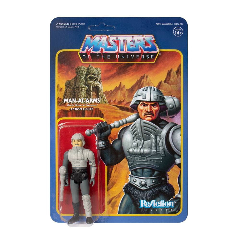 Photo du produit MASTERS OF THE UNIVERSE FIGURINE REACTION MAN-AT-ARMS (MOVIE ACCURATE)