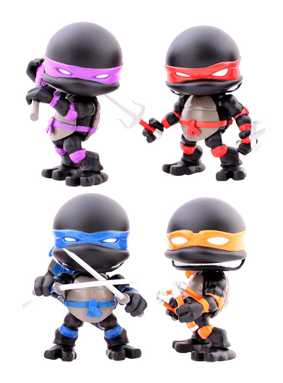 Les tortues ninja pack 4 figurines stealth - Les 4 tortues ninja ...