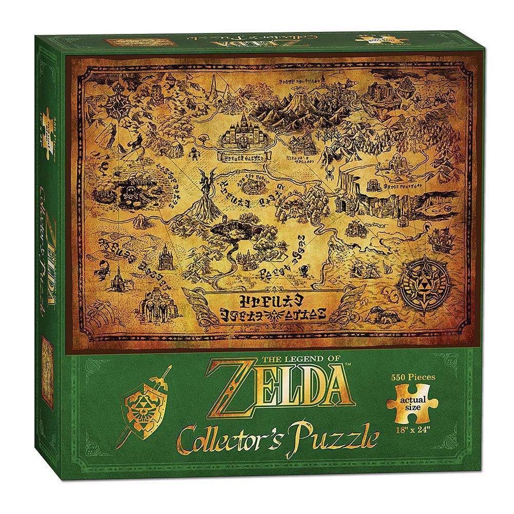 Photo du produit PUZZLE LEGEND OF ZELDA HYRULE MAP
