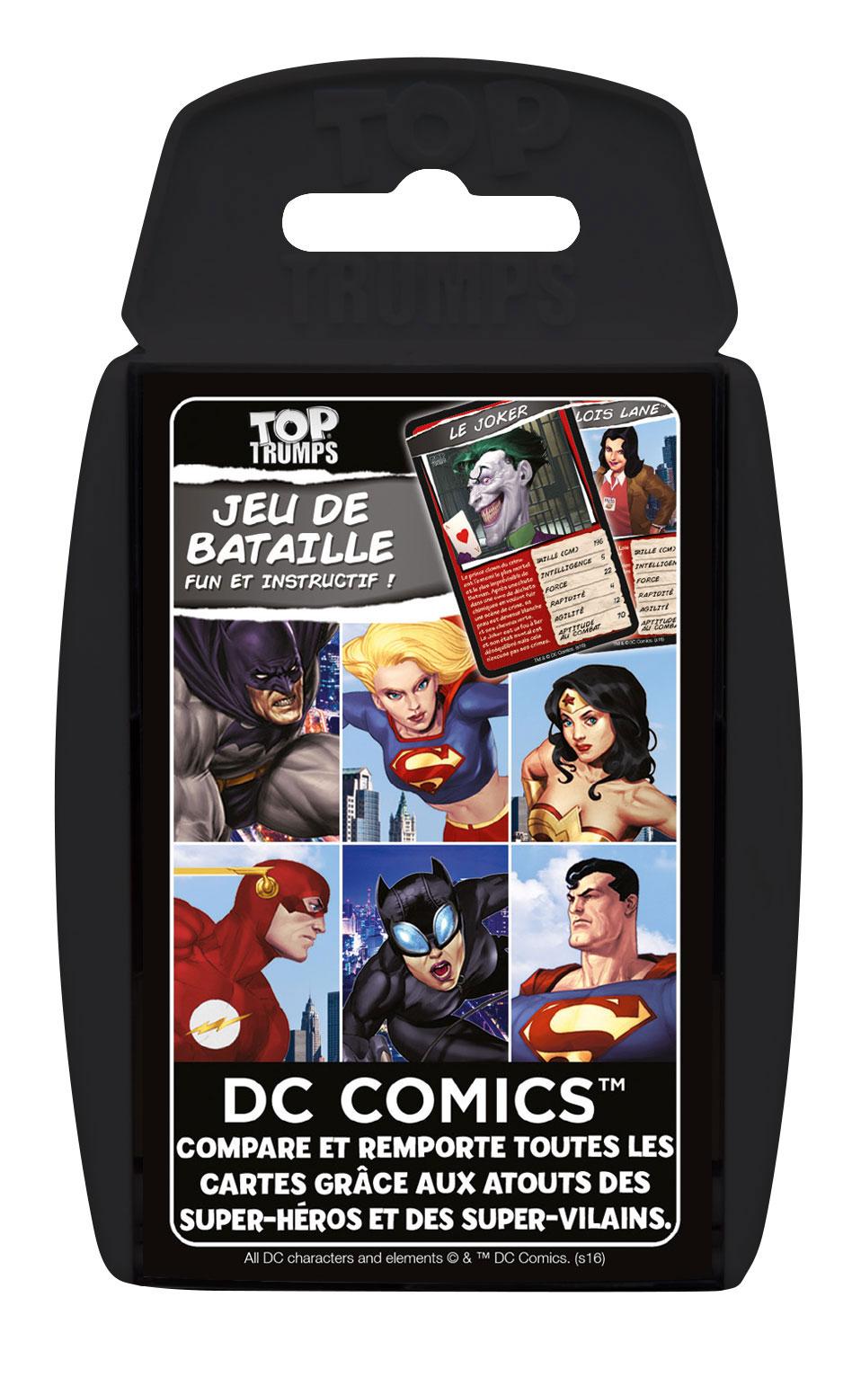 Photo du produit DC COMICS JEU DE CARTES TOP TRUMPS
